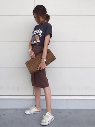 kayoさんの「ロックTシャツ(THE SHINZONE ザ シンゾーン)」を使ったコーディネート