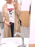 イノカナ is wearing snidel