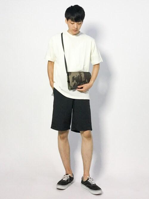 togiさんの「BオーガニックコットンポケットTシャツ(半袖)(SENSE OF PLACE by URBAN RESEARCH)」を使ったコーディネート