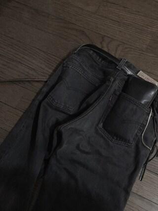 君嶋麻耶さんの「Leather long wallet fold 'minimal' shine 2 ラウンドファスナーロングウォレット(PATRICK STEPHAN|パトリックステファン)」を使ったコーディネート