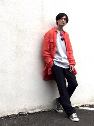 君嶋麻耶さんの(Yohji Yamamoto POUR HOMME|ヨウジヤマモトプールオム)を使ったコーディネート