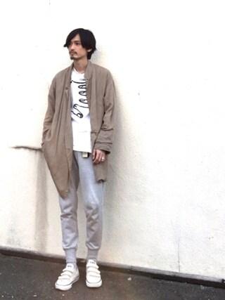 君嶋麻耶さんの「M CLASSIC FRENCH TERRY CUFF PANTS(Y-3|ワイスリー)」を使ったコーディネート