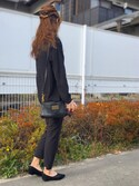 「MARC BY MARC JACOBS 'Classic Q - Percy' Crossbody Bag(Marc by Marc Jacobs)」 using this Miyu Yamaoka looks