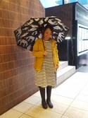 Yamadaさんの「BOHEMIANS/ボヘミアンズ FOLDING UMBRELLA LOVE ZEBRA/折りたたみ傘 (4)(BOHEMIANS|ボヘミアンズ)」を使ったコーディネート