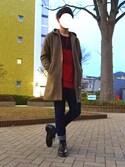 ナオキさんの「【MANGROVE】ストレッチテーパードデニムパンツ-ストレッチスリムスキニーパンツ(MANGROVE|マングローブ)」を使ったコーディネート