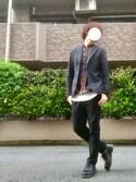 ナオキさんの「【FLEX JACKET】高撥水DICROSジャケット(ABAHOUSE|フリークスストア)」を使ったコーディネート
