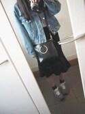 cocoさんの「WOMEN カシミヤVネックセーター(長袖)(ユニクロ|ユニクロ)」を使ったコーディネート