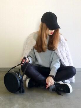 Yukie♡iさんの「ファージャケット(who's who Chico|フーズフーチコ)」を使ったコーディネート