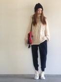 Yukie♡iさんの「(HIGHLAND CLUB) 9600BOB CAP(ROSE BUD|ローズバッド)」を使ったコーディネート
