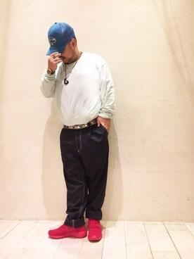 ユナイテッドアローズ 有楽町店|Isao TakahashiさんのTシャツ/カットソー「BY ワイド リブ カットソー -MADE IN JAPAN-(BEAUTY&YOUTH UNITED ARROWS|ビューティアンドユースユナイテッドアローズ)」を使ったコーディネート