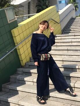 「<スザンヌさんコラボ>ラブ&ピースプロジェクト コーデュロイドルマントップス(haco!)」 using this nao looks