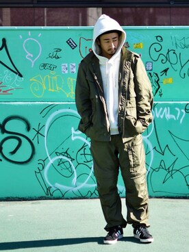 68&BROTHERS TOKYO|【68&brothers】KSKさんの「Grosgrain M-65 Jacket(68&brothers)」を使ったコーディネート