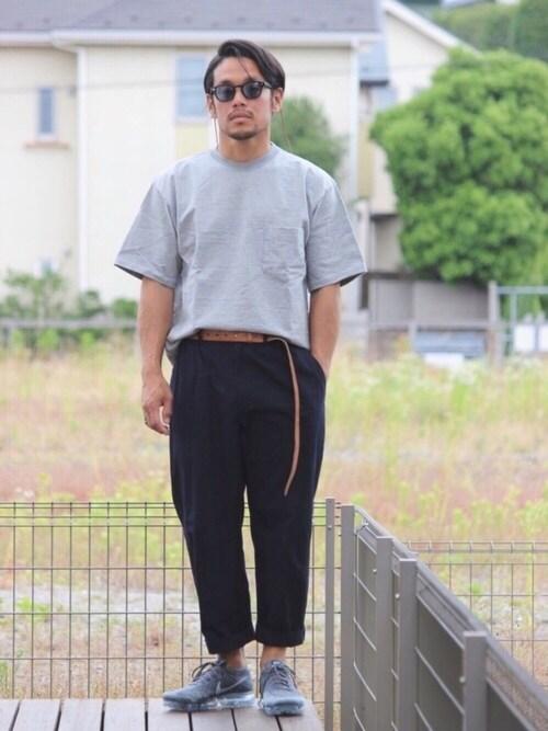 BigTシャツ×スラックス×ヴェイパーマックス