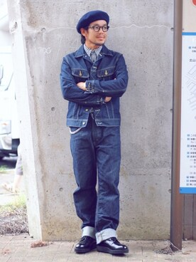 ケンジさんの「101J デニムジャケット(Lee リー)」を使ったコーディネート