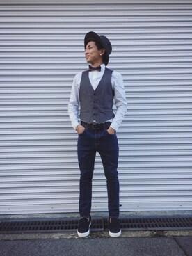 takuya_hongoさんの(蝶ネクタイ ¥300)を使ったコーディネート