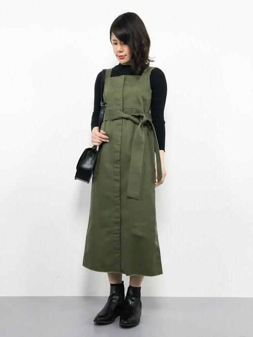 natsumiさんの「Dickies/別注ベルト付きジャンパースカート(Dickies)」を使ったコーディネート