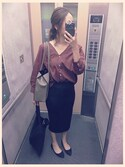「T400/ウシロVシャツ8S 749813(apart by lowrys)」 using this amiba looks