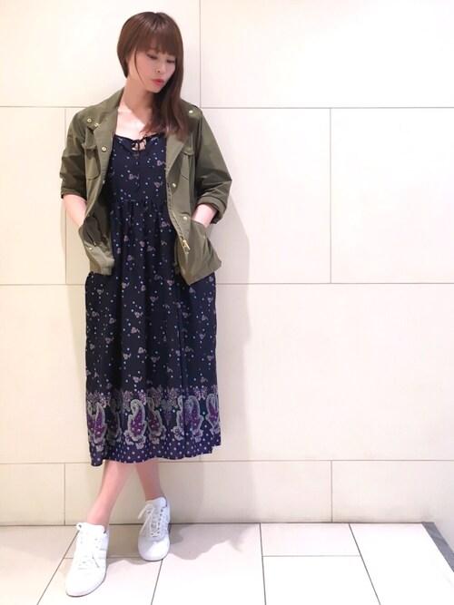 LISA YAMANAKAさんの「M65 ミリタリー ジャケット(MAISON DE REEFUR)」を使ったコーディネート