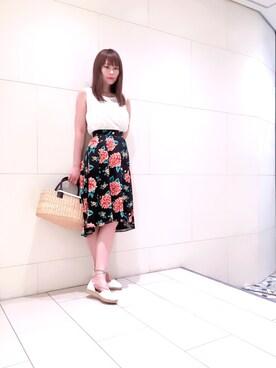 MAISON DE REEFUR PLACARD ルミネ新宿店|LISA YAMANAKAさんの「レース ノースリーブ トップス(MAISON DE REEFUR)」を使ったコーディネート