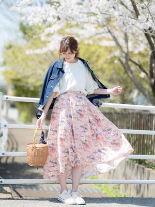 プチプラのあやさんの「<CONVERSE(コンバース)>ALL STAR MADE IN JAPAN スニーカー(CONVERSE|コンバース)」を使ったコーディネート