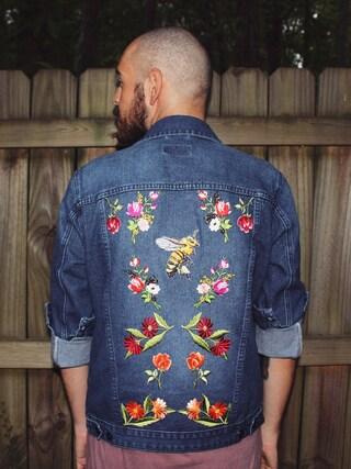 (DIY vintage jacket) using this fabuluisly looks