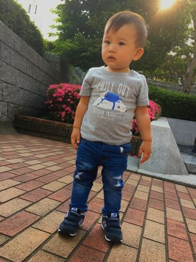 「OUTDOOR PRODUCTS×SHIPS:TEE(80~90cm)(SHIPS KIDS)」 using this Hiroken looks