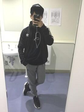 SHUNさんの(adidas|アディダス)を使ったコーディネート
