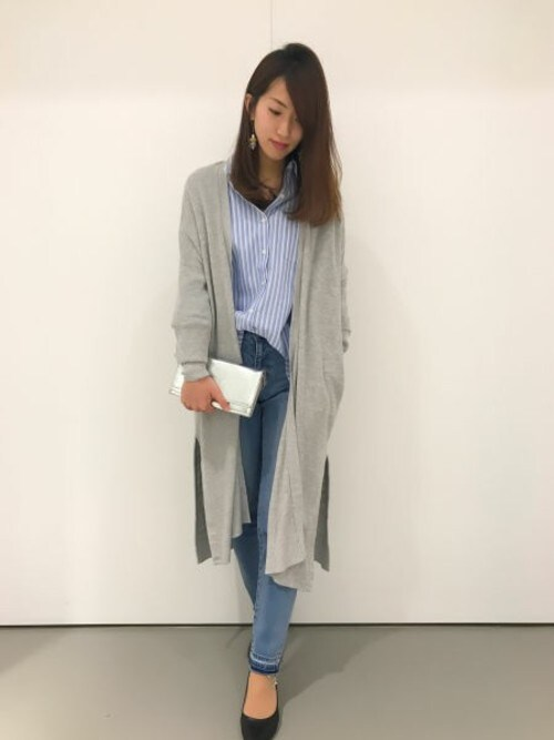 BLISS POINT 京都桂川店 Womens Staffさんの「コットンリヨセル2WAYシャツ/743328(BLISS POINT)」を使ったコーディネート