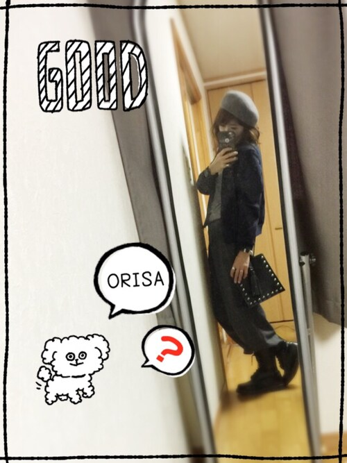 「WOOLベレー(SLY)」 using this Orisatti looks