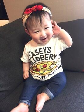 chunさんの「ジャンクフードプリントTシャツ(BREEZE|ブリーズ)」を使ったコーディネート