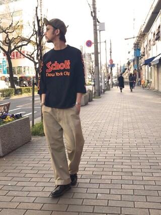 Schott Kobe|Minoru_Uchidaさんの(schott|ショット)を使ったコーディネート