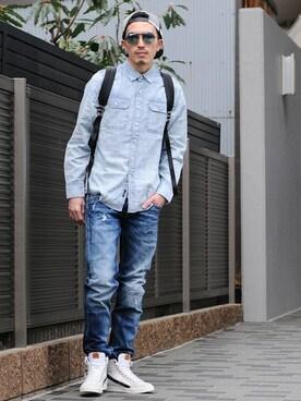 Octet nagoya|akihirotakimotoさんの「REPLAY RONAS SLIM  デニム(REPLAY)」を使ったコーディネート