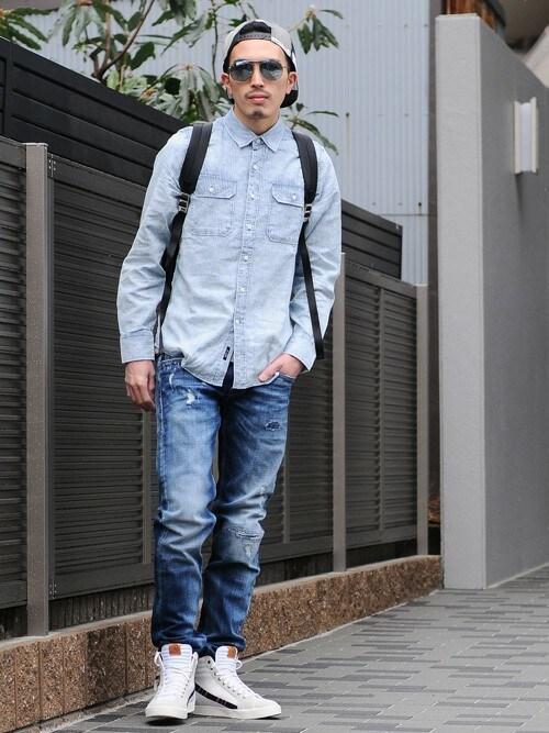 akihirotakimotoさんの「REPLAY RONAS SLIM  デニム(REPLAY)」を使ったコーディネート