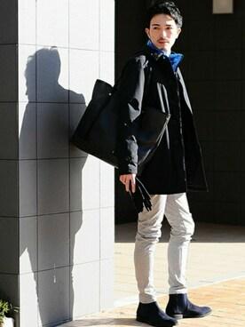 Octet nagoya|AKIHIROさんの「HERNO ラミナー ステンカラーコート(HERNO)」を使ったコーディネート