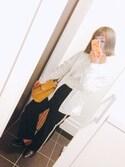 Sachiさんの「WOMEN ライトポケッタブルパーカ(ユニクロ|ユニクロ)」を使ったコーディネート