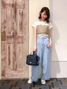 laboratory work 有楽町マルイ店|Hoshinaさんの「ビスチェドッキングTシャツ(laboratory work)」を使ったコーディネート