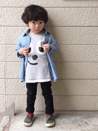 いづ&すぅさんの「skeegee×Leo Lionni フェイスTシャツ(skeegee スキージー)」を使ったコーディネート