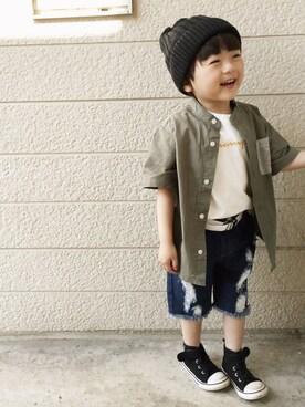 いづ&すぅさんの「championコラボ半袖Tシャツ(RADCHAP|ラッドチャップ)」を使ったコーディネート