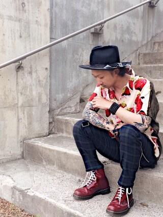 ®️oomさんの「Lenny hat(glamb|グラム)」を使ったコーディネート
