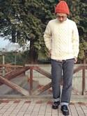 ®️oomさんの「【BE】HIGHLAND 2000(ハイランド2000)  Bob Cap  (303)(HIGHLAND 2000 ジョンブル プライベート ラボ)」を使ったコーディネート