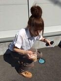 ちゃんかなさんの「【 PUMA Fenty Collection】CLEATED CREEPERSUEDE WNS  02GOLDEN BROWN-LA(PUMA|シャネル)」を使ったコーディネート