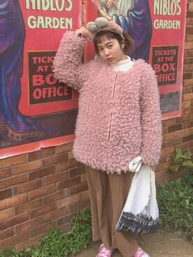 harukaさんの「(GU)イージーワイドクロップドパンツ(GU ジーユー)」を使ったコーディネート
