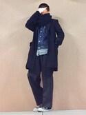 yuuさんの「converse コンバース ALL STAR HI オールスター ハイ 3206 BLACK(US)(CONVERSE|コンバース)」を使ったコーディネート