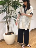 Asami Masegiさんの「BY ハイウエストボックスタックワイドパンツ(BEAUTY&YOUTH UNITED ARROWS|ビューティアンドユースユナイテッドアローズ)」を使ったコーディネート