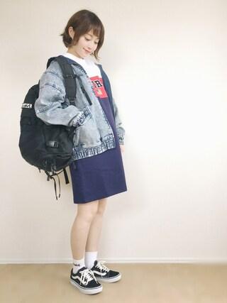 「DENIM BIG BLOUSON(X-girl)」 using this てら looks