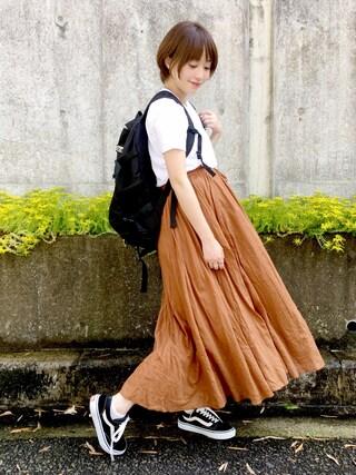 てらさんの「Hanes ヘインズ 2P JAPAN Fit ジャパンフィット(2枚組) クルーネックTシャツ(HANES|ヘインズ)」を使ったコーディネート