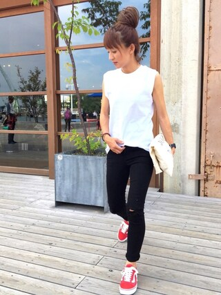 「【Hanes FOR BIOTOP】2-Pack  Sleeveless T-shirts(HANES)」 using this RIE looks