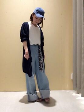 THE SHOP TK ららぽーと和泉|ga-riさんの「【UV】梨地ミドル丈カーディガン(THE SHOP TK)」を使ったコーディネート