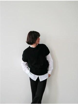 Littleblack|LITTLEBLACKさんの「バストビッグポケットシンプルデザインシャツ」を使ったコーディネート