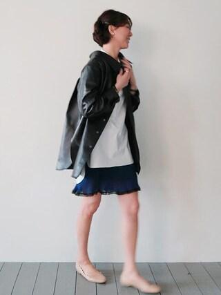 Littleblack|LITTLEBLACKさんの「プリーツドットスカート(littleblack|リトルブラック)」を使ったコーディネート